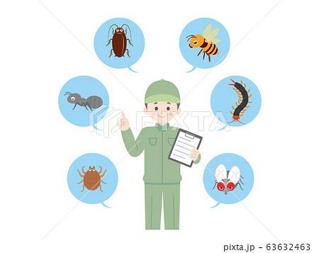 害虫駆除業者 作業員のイラスト 63632463