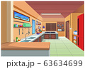 Cartoon image of the kitchen for cooking. 63634699