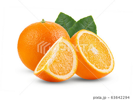 orange fruit isolated on white background. Full depth of field 63642294