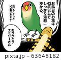 健康志向の鳥さんと爬虫類さん(ペット、元気、お風呂) 63648182