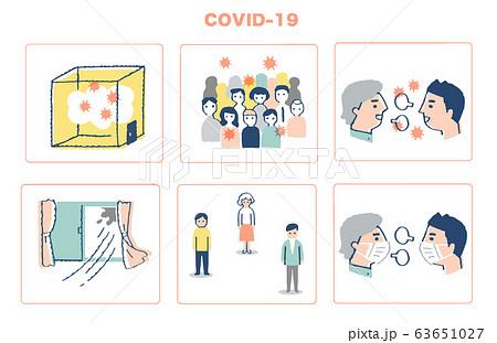 集団感染が起こる3条件 三つの「密」と対策 63651027