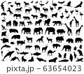 動物シルエット 63654023