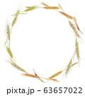 麦のリース 水彩 63657022