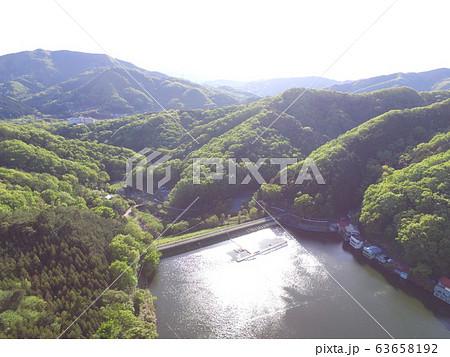 円良田湖(つぶらたこ)〜ドローンで空撮(埼玉県寄居町・美里町) 63658192