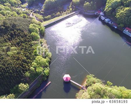 円良田湖(つぶらたこ)〜ドローンで空撮(埼玉県寄居町・美里町) 63658193