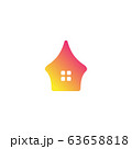 Home unique logo design vector 63658818