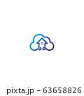 Home cloud logo design vector 63658826