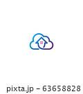 Home cloud logo design vector 63658828