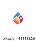 Home water logo design vector colorful 63658829