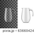 Realistic glass pitcher or jug for drinks or water 63660424