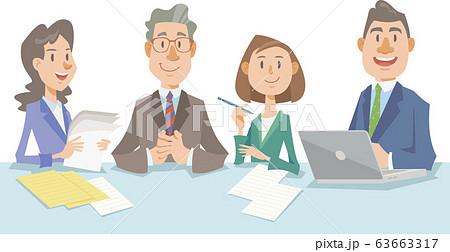 会議をするビジネスチーム 63663317