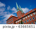 red Luebeck, View of the old city. 63665651