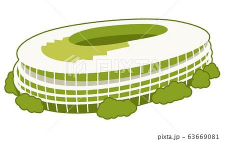 新国立競技場のベクターイラスト 63669081