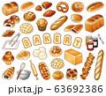 パン屋さんベクターイラストセット 63692386