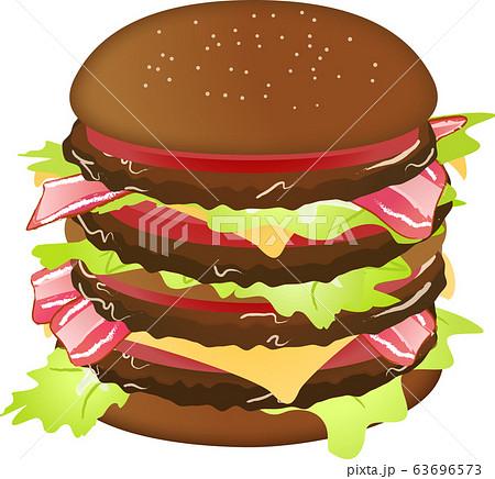 ハンバーガー(ビッグサイズ)ベクター 63696573