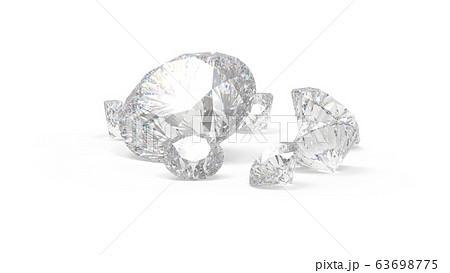 ダイヤモンド バックグランド白系 CG 63698775