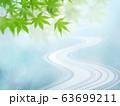背景-和-和風-和柄-日本-春-初夏-夏-紅葉-川-ブルー 63699211