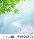 背景-和-和風-和柄-日本-春-初夏-夏-紅葉-川-ブルー 63699213