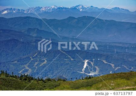 巻機山・牛ヶ岳から見る北アルプス・白馬岳 63713797