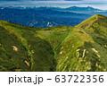 巻機山・牛ヶ岳稜線から見る割引岳と北アルプス・妙高連峰 63722356