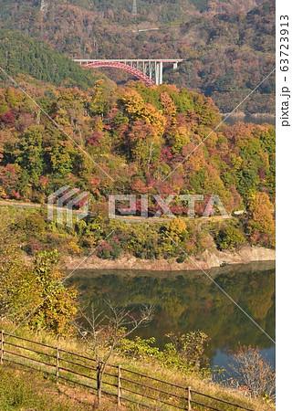 温井ダム 龍姫湖 秋の景色 63723913