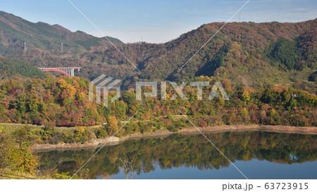 温井ダム 龍姫湖 秋の景色 63723915