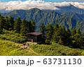 巻機山避難小屋と大源太山・雲湧く谷川連峰の眺め 63731130