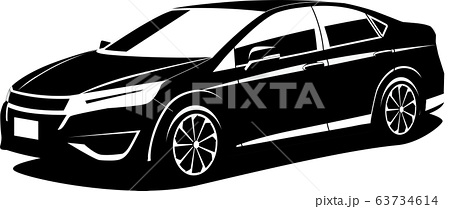 スポーツセダン シルエット 自動車イラスト オリジナルデザイン 63734614