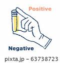 ウイルス検査イメージ 試験管を持つ手元 63738723