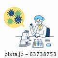 科学 臨床 研究 イメージ  63738753