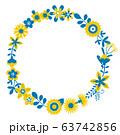 花のリース 花の環 63742856
