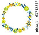 花のリース 花の環 63742857