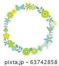 花のリース 花の環 63742858