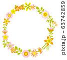 花のリース 花の環 63742859