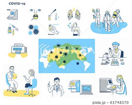 感染症イメージ セット 63748370