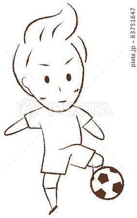 サッカーをする少年 トラップ 63751647