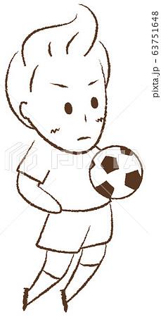 サッカーをする少年 胸トラップ 63751648