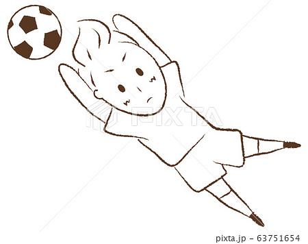 サッカーをする少年 ゴールキーパー 63751654