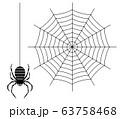 蜘蛛と蜘蛛の巣 63758468