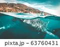 Whale shark watching off the scenic coast of Oslob, Cebu, Philippines 63760431