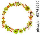 花のリース 花の環 63761940