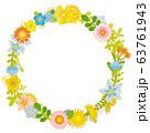 花のリース 花の環 63761943