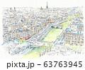 世界遺産の街並み・フランス・パリ市街 63763945