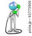 globe man with handset 63773966
