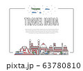 Travel India poster in linear style 63780810