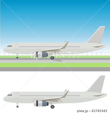 イラスト素材 飛行機 ジェット機 航空機 アイコン ベクター 63785485