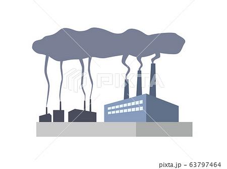 工場 プラント 煙 公害 汚染物質 環境汚染 環境問題 63797464