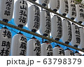 神社の提灯(中目黒八幡神社/東京都目黒区中目黒3-10-5) 63798379