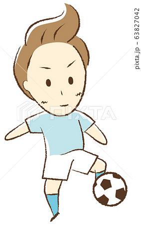 サッカーをする少年 トラップ 63827042