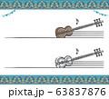 アラブ民族楽器を使ったラベル素材 63837876